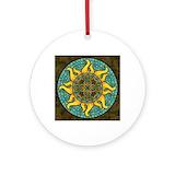 Sun Round Ornaments