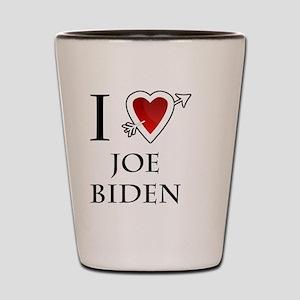 i love Joe Biden heart  Shot Glass
