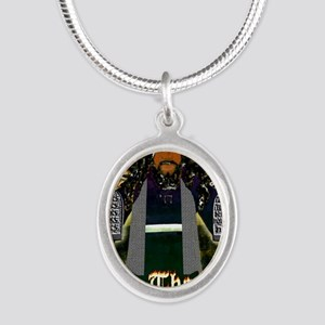 Keep the Law...Moses Silver Oval Necklace