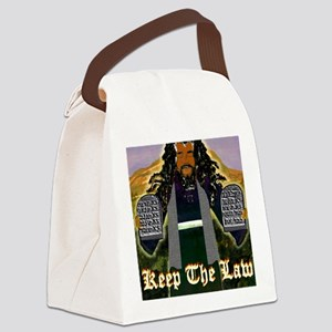 Keep the Law...Moses Canvas Lunch Bag
