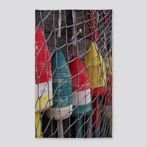 Netted Lobster Buoys 3'x5' Area Rug