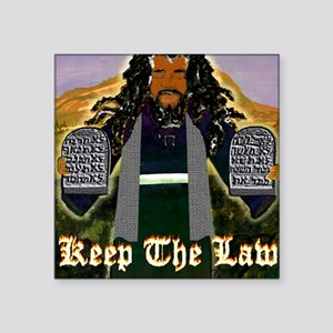 """Keep the Law...Moses Square Sticker 3"""" x 3"""""""