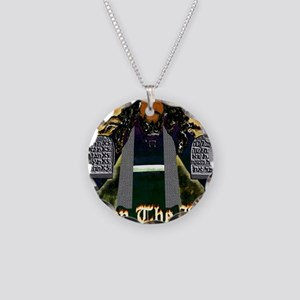 Keep the Law...Moses Necklace Circle Charm