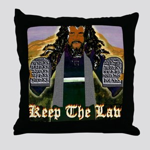 Keep the Law...Moses Throw Pillow