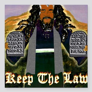"""Keep the Law...Moses Square Car Magnet 3"""" x 3"""""""