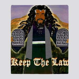 Keep the Law...Moses Throw Blanket