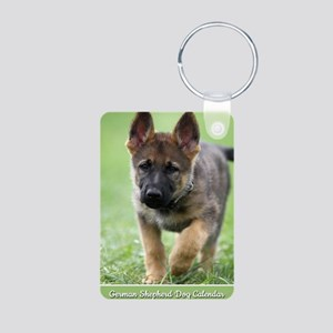 German Shepherd dog puppy Aluminum Photo Keychain