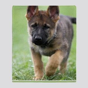 German Shepherd dog puppy Throw Blanket