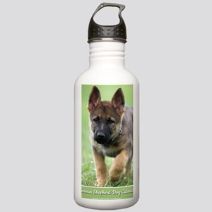 German Shepherd dog pu Stainless Water Bottle 1.0L