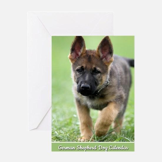 German Shepherd dog puppy Greeting Card