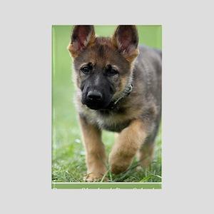 German Shepherd dog puppy Rectangle Magnet