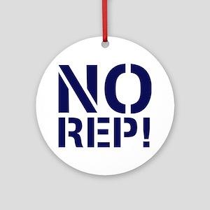 No Rep Round Ornament