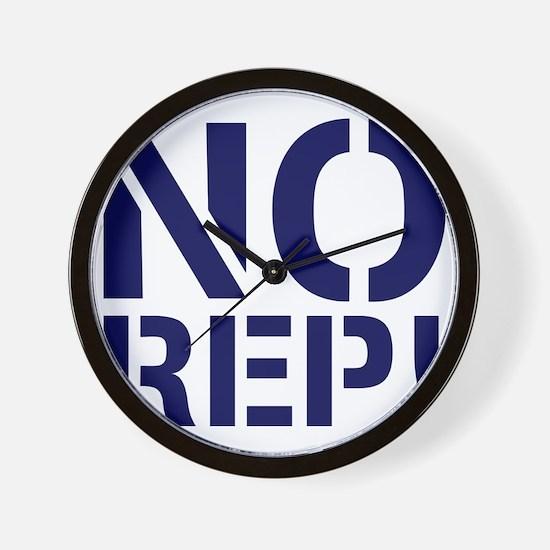 No Rep Wall Clock