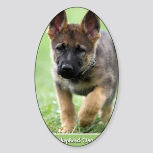 German Shepherd dog puppy Sticker (Oval)