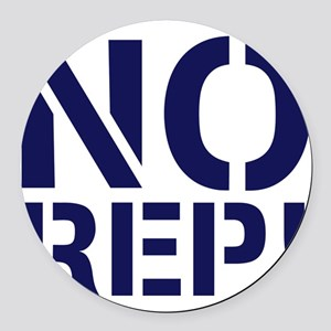 No Rep Round Car Magnet