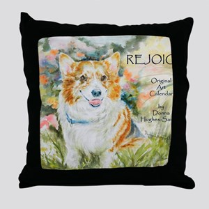 Rejoice! Calendar by Donna Hughes-Sau Throw Pillow