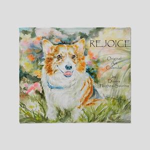 Rejoice! Calendar by Donna Hughes-Sa Throw Blanket