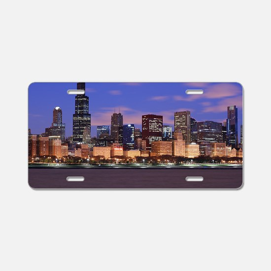 Morning Clouds Aluminum License Plate