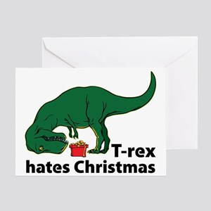 T-rex hates Christmas Greeting Card