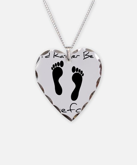 Id Rather Be Barefoot Necklace