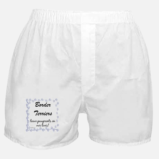 Border Terrier Pawprints Boxer Shorts