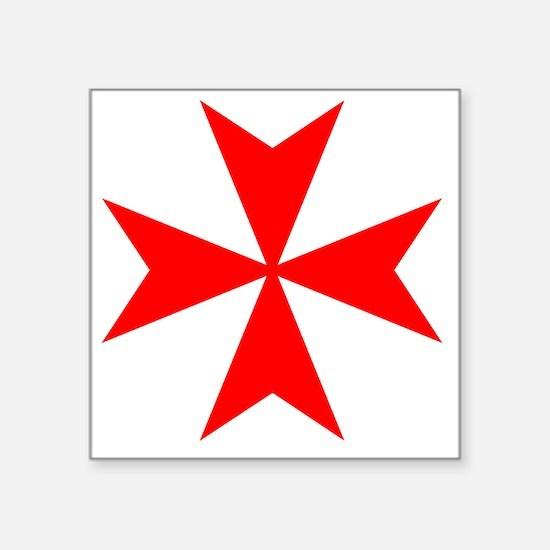 "redcrossmaltese Square Sticker 3"" x 3"""