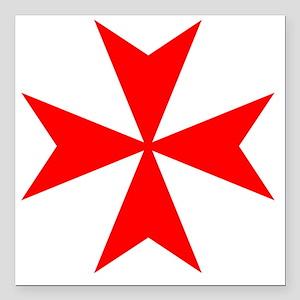 """redcrossmaltese Square Car Magnet 3"""" x 3"""""""