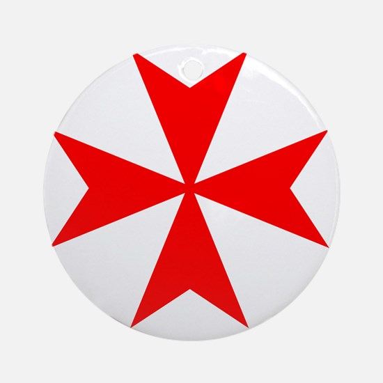 redcrossmaltese Round Ornament