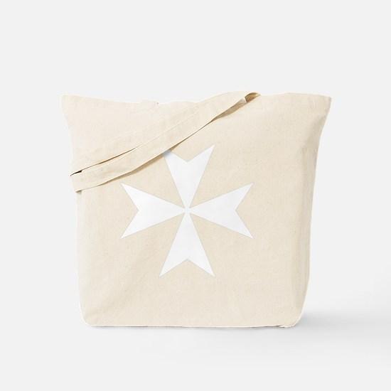 whitecrossmaltese Tote Bag