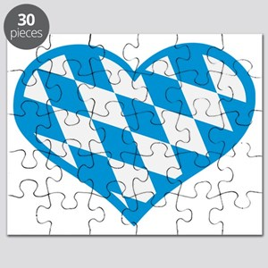 Bavaria heart flag Puzzle