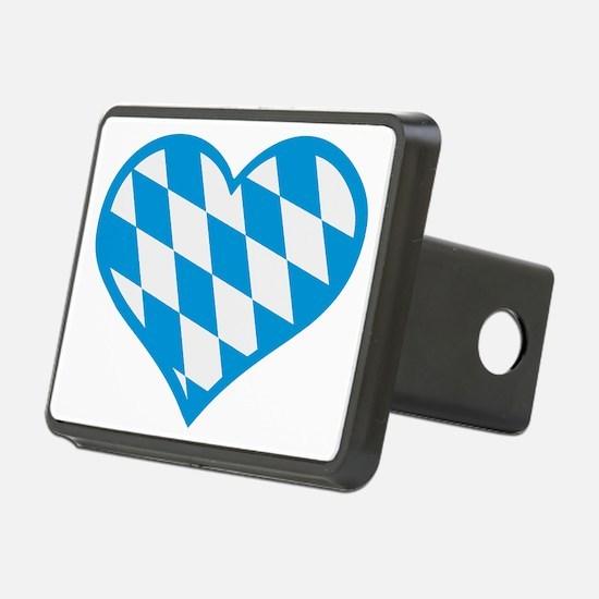 Bavaria heart flag Hitch Cover