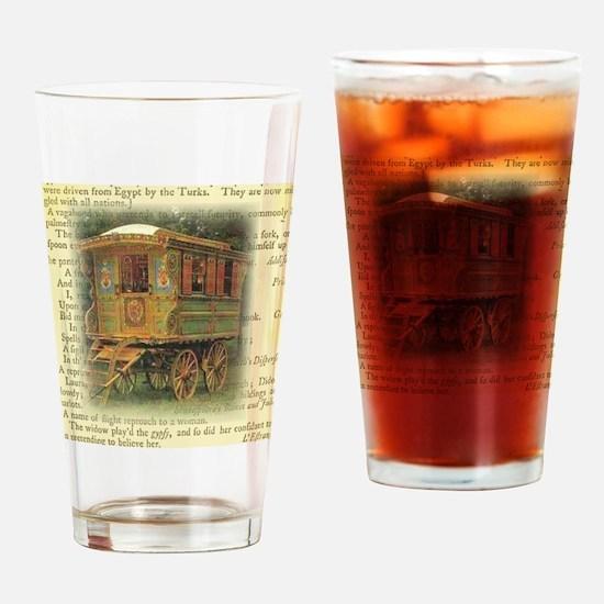 gypsy wagon 2 Drinking Glass
