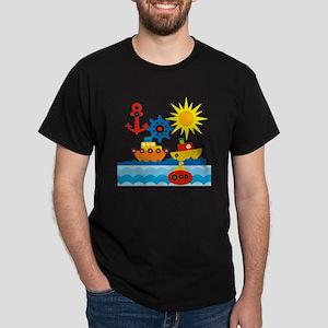 On The Ocean Blue Dark T-Shirt