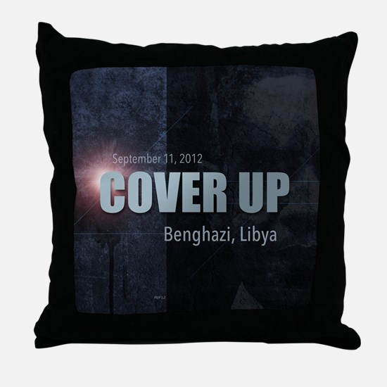 Benghazi Cover Up Throw Pillow