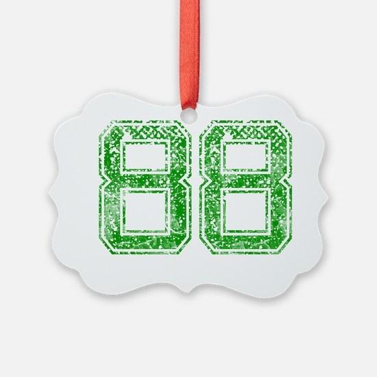 88, Green, Vintage Ornament