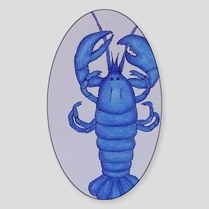 BLUE LOBSTER Sticker (Oval)