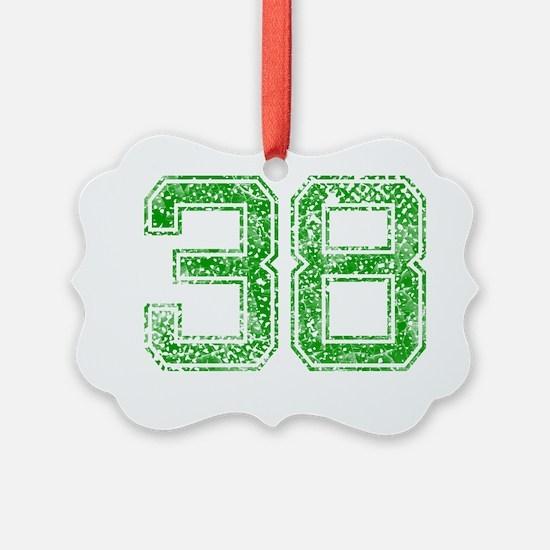 38, Green, Vintage Ornament
