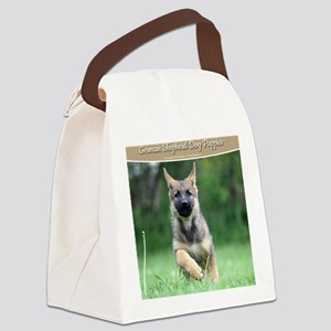 German Shepherd dog puppy Canvas Lunch Bag