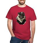 Biker Pug black T-Shirt