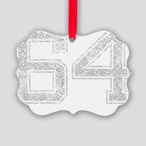 64, Grey, Vintage Picture Ornament