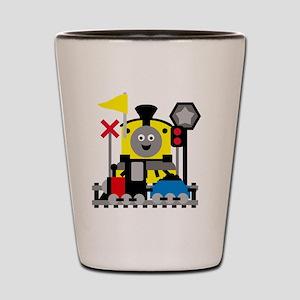 Trains Shot Glass