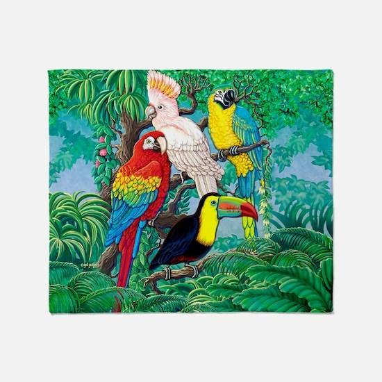 Tropical Birds 37x30 Throw Blanket