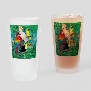 Tropical Birds 37x30 Drinking Glass