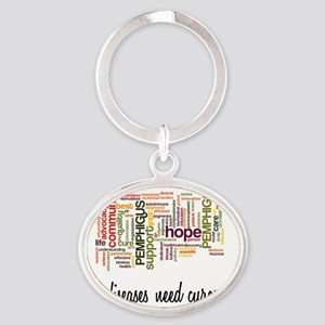 Rare Diseases Need Cures Too Oval Keychain