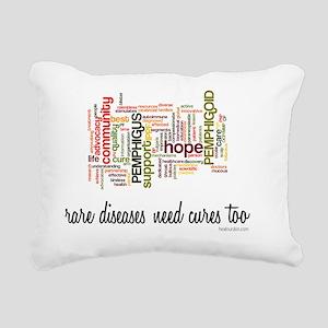 Rare Diseases Need Cures Rectangular Canvas Pillow