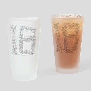 18, Grey, Vintage Drinking Glass