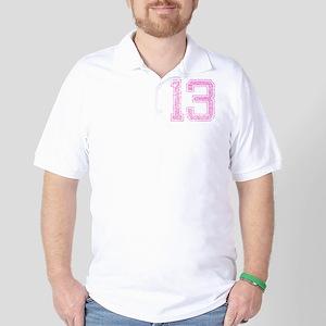 13, Pink Golf Shirt