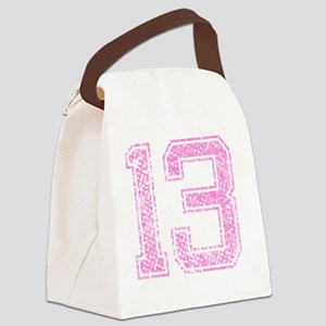 13, Pink Canvas Lunch Bag