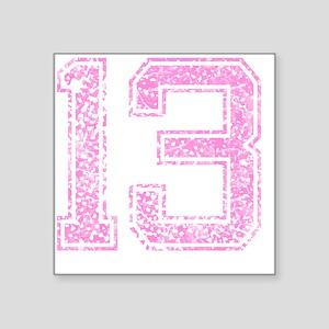 "13, Pink Square Sticker 3"" x 3"""