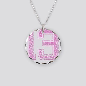 13, Pink Necklace Circle Charm